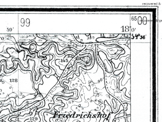 Reduced fragment of topographic map de--mb--025k--14_073--(1928)--N054-36_E017-50--N054-30_E018-00