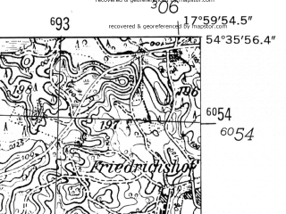 Reduced fragment of topographic map de--mb--025k--14_073-ams--(1952)--N054-36_E017-50--N054-30_E018-00