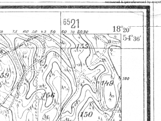 Reduced fragment of topographic map de--mb--025k--14_075--(1940)--N054-36_E018-10--N054-30_E018-20