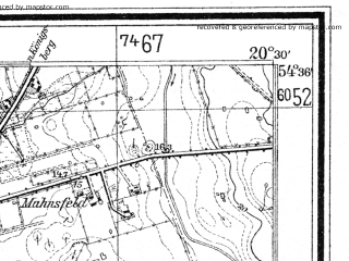 Reduced fragment of topographic map de--mb--025k--14_088--(1933)--N054-36_E020-20--N054-30_E020-30