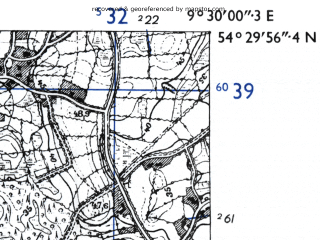 Reduced fragment of topographic map de--mb--025k--15_022-ams--(1955)--N054-30_E009-20--N054-24_E009-30