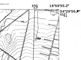 Reduced fragment of topographic map de--mb--025k--15_067-ams--(1952)--N054-30_E016-50--N054-24_E017-00