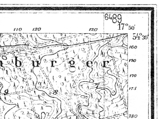 Reduced fragment of topographic map de--mb--025k--15_072--(1936)--N054-30_E017-40--N054-24_E017-50; towns and cities Cewice