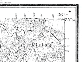 Reduced fragment of topographic map de--mb--025k--15_076--(1917)--N054-30_E018-20--N054-24_E018-30