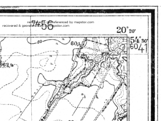 Reduced fragment of topographic map de--mb--025k--15_087--(1939)--N054-30_E020-10--N054-24_E020-20
