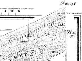 Reduced fragment of topographic map de--mb--025k--16_082--(1944)--N054-24_E019-20--N054-18_E019-30
