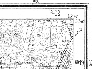 Reduced fragment of topographic map de--mb--025k--17_064--(1935)--N054-18_E016-20--N054-12_E016-30