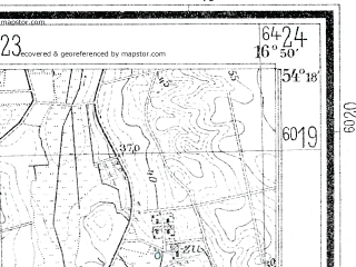 Reduced fragment of topographic map de--mb--025k--17_066--(1935)--N054-18_E016-40--N054-12_E016-50