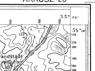 Reduced fragment of topographic map de--mb--025k--17_071--(1927)--N054-18_E017-30--N054-12_E017-40