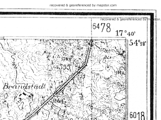 Reduced fragment of topographic map de--mb--025k--17_071--(1942)--N054-18_E017-30--N054-12_E017-40
