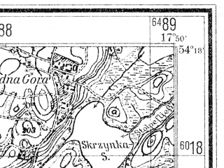 Reduced fragment of topographic map de--mb--025k--17_072--(1942)--N054-18_E017-40--N054-12_E017-50
