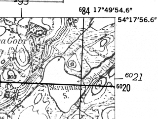 Reduced fragment of topographic map de--mb--025k--17_072-ams--(1952)--N054-18_E017-40--N054-12_E017-50