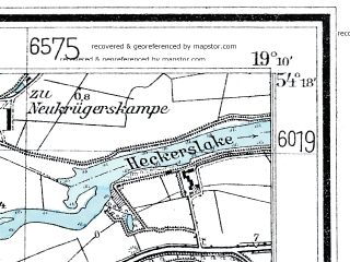 Reduced fragment of topographic map de--mb--025k--17_080--(1925)--N054-18_E019-00--N054-12_E019-10; towns and cities Nowy Dwor Gdanski