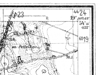 Reduced fragment of topographic map de--mb--025k--17_084--(1944)--N054-18_E019-40--N054-12_E019-50