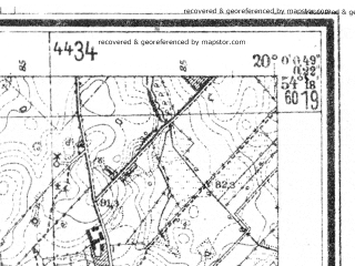 Reduced fragment of topographic map de--mb--025k--17_085--(1944)--N054-18_E019-50--N054-12_E020-00