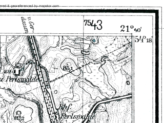 Reduced fragment of topographic map de--mb--025k--17_095--(1927)--N054-18_E021-30--N054-12_E021-40