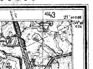 Reduced fragment of topographic map de--mb--025k--17_095--(1944)--N054-18_E021-30--N054-12_E021-40