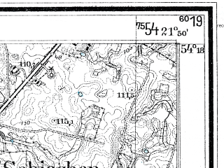 Reduced fragment of topographic map de--mb--025k--17_096--(1934)--N054-18_E021-40--N054-12_E021-50; towns and cities Wegorzewo