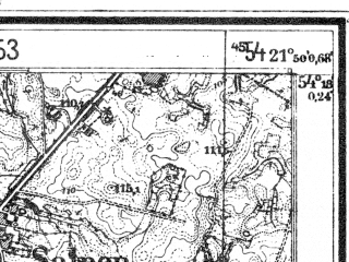 Reduced fragment of topographic map de--mb--025k--17_096--(1944)--N054-18_E021-40--N054-12_E021-50; towns and cities Wegorzewo