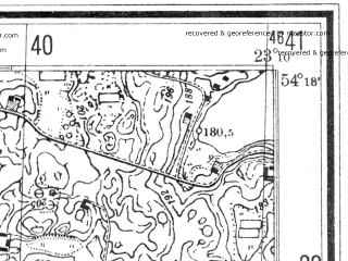Reduced fragment of topographic map de--mb--025k--17_104--(1944)--N054-18_E023-00--N054-12_E023-10