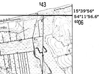 Reduced fragment of topographic map de--mb--025k--18_059-ams--(1952)--N054-12_E015-30--N054-06_E015-40; towns and cities Kolobrzeg