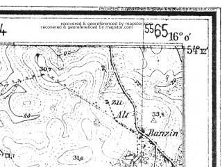 Reduced fragment of topographic map de--mb--025k--18_061--(1939)--N054-12_E015-50--N054-06_E016-00