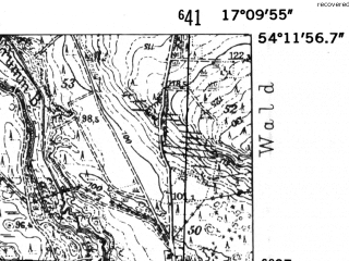 Reduced fragment of topographic map de--mb--025k--18_068-ams--(1952)--N054-12_E017-00--N054-06_E017-10