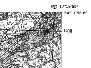 Reduced fragment of topographic map de--mb--025k--18_069-ams--(1952)--N054-12_E017-10--N054-06_E017-20