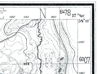 Reduced fragment of topographic map de--mb--025k--18_071--(1926)--N054-12_E017-30--N054-06_E017-40