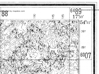 Reduced fragment of topographic map de--mb--025k--18_072--(1941)--N054-12_E017-40--N054-06_E017-50