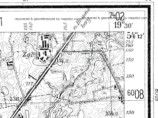 Reduced fragment of topographic map de--mb--025k--18_082--(1937)--N054-12_E019-20--N054-06_E019-30; towns and cities Elblag