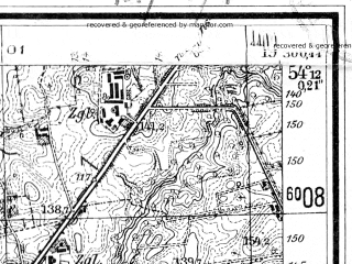 Reduced fragment of topographic map de--mb--025k--18_082--(1944)--N054-12_E019-20--N054-06_E019-30; towns and cities Elblag