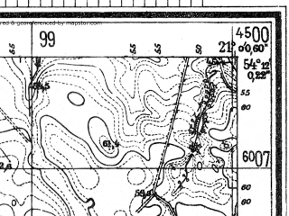 Reduced fragment of topographic map de--mb--025k--18_091--(1944)--N054-12_E020-50--N054-06_E021-00