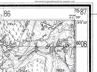 Reduced fragment of topographic map de--mb--025k--18_099--(1930)--N054-12_E022-10--N054-06_E022-20