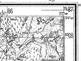 Reduced fragment of topographic map de--mb--025k--18_099--(1938)--N054-12_E022-10--N054-06_E022-20