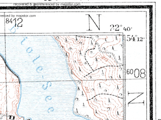 Reduced fragment of topographic map de--mb--025k--18_101--(1934)--N054-12_E022-30--N054-06_E022-40
