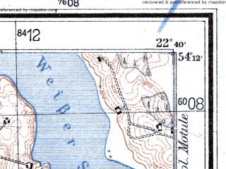 Reduced fragment of topographic map de--mb--025k--18_101--(1942)--N054-12_E022-30--N054-06_E022-40