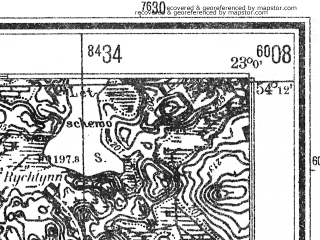 Reduced fragment of topographic map de--mb--025k--18_103--(1940)--N054-12_E022-50--N054-06_E023-00