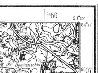 Reduced fragment of topographic map de--mb--025k--18_105--(1940)--N054-12_E023-10--N054-06_E023-20