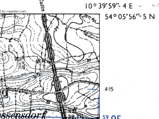 Reduced fragment of topographic map de--mb--025k--19_029-ams--(1955)--N054-06_E010-30--N054-00_E010-40
