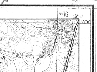 Reduced fragment of topographic map de--mb--025k--19_062--(1939)--N054-06_E016-00--N054-00_E016-10