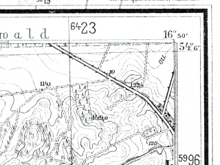 Reduced fragment of topographic map de--mb--025k--19_066--(1935)--N054-06_E016-40--N054-00_E016-50