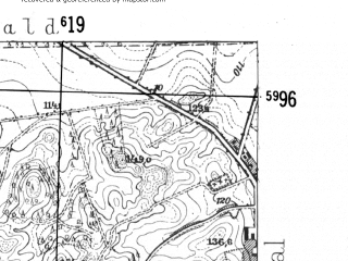 Reduced fragment of topographic map de--mb--025k--19_066-ams--(1952)--N054-06_E016-40--N054-00_E016-50