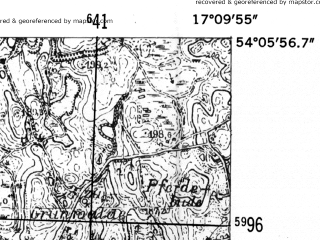 Reduced fragment of topographic map de--mb--025k--19_068-ams--(1952)--N054-06_E017-00--N054-00_E017-10