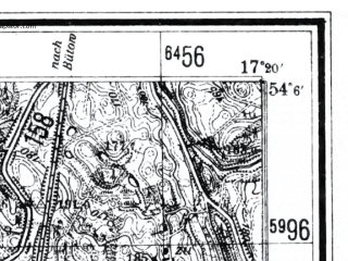 Reduced fragment of topographic map de--mb--025k--19_069--(1940)--N054-06_E017-10--N054-00_E017-20