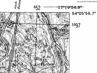 Reduced fragment of topographic map de--mb--025k--19_069-ams--(1952)--N054-06_E017-10--N054-00_E017-20