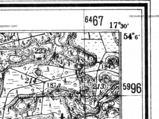 Reduced fragment of topographic map de--mb--025k--19_070--(1940)--N054-06_E017-20--N054-00_E017-30