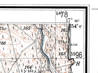 Reduced fragment of topographic map de--mb--025k--19_071--(1938)--N054-06_E017-30--N054-00_E017-40