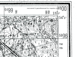 Reduced fragment of topographic map de--mb--025k--19_073--(1941)--N054-06_E017-50--N054-00_E018-00