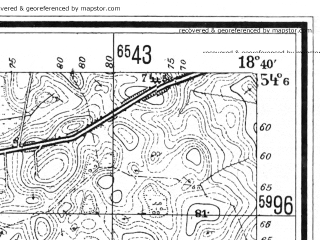 Reduced fragment of topographic map de--mb--025k--19_077--(1940)--N054-06_E018-30--N054-00_E018-40
